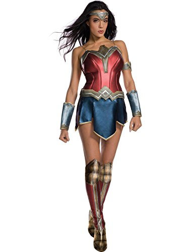 Secret Wishes Women's Wonder Woman Secret Wishes Costume With Boot Tops, As/Shown, Small]()