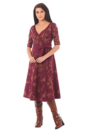 Poplin Wrap Dress - 2