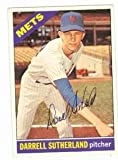 Autograph Warehouse 95510 Darrell Sutherland Autographed Baseball Card New York Mets 1966 Topps No. 191 Pen