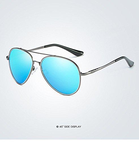 miroir en soleil lunettes Lunettes de hommes soleil printemps soleil mode polarisées de soleil lunettes de noir métal Yao de Polaroid pilote 6 pour pilote adultes charnière lentille Lunettes q6FE71