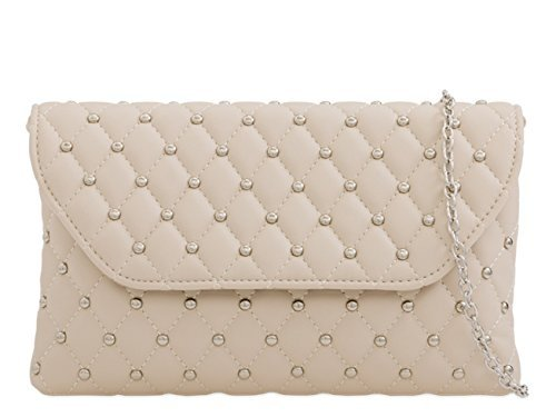 Hand Dressy Leather Womens Occasion Ladies Prom Evening Faux Quilted Bags Nude Clutch Party M5 UazfwqRa