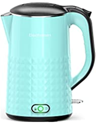 Elechomes 1.7L Electric Kettle with Smart Keep Warm Function, Stainless Steel Interior, BPA-Free Cool Touch Exterior and Vacuum Layer, Sky Blue