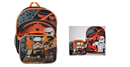 Backpack - Star Wars - 16 Stormtrooper w/ Lunch Bag New WARP