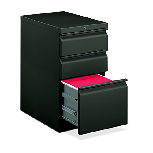 HON Efficiencies Mobile Pedestal File - Storage Pedestal with 1 File and 2 Box Drawers 22-7/8-Inch , Charcoal (H33723R)