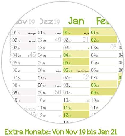 Wandkalender 2020 groß: 89 cm x 63 cm (größer als A1) für 15 Monate Nov 2019 - Jan 2021| gefalzter Wandplaner mit Ferien- und Feiertage-Übersicht, FSC®-Papier + extra A4-Kalender