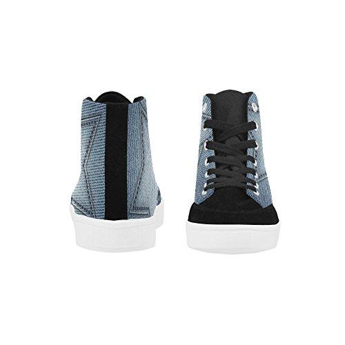 Interestprint Bella Farfalla Su Jeans Moda Scarpe Alte Per Le Donne Blue Jeans Stella