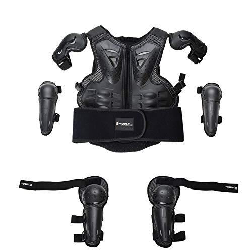 HBRT Kinder Motorrad Rüstung, Kinder Fahrrad Schutzkleidung Jacken Anzug Motorrad Off-Road-Rennen Eltern-Kind-Sport…