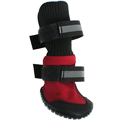 Paw Tech All Weather Dog Boot, Large, Red by American Kennel Club (Image #2)