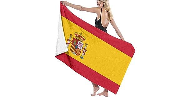 Toallas de baño de lujo Paños de lavado para el hogar, hotel, spa, sauna de playa - Toallas de la bandera de España, ducha absorbente suave y toallas de baño Sábanas de