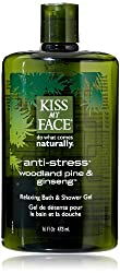 Kiss My Face Bath & Shower Gel Anti-stress Woodland Pine & Ginseng - 16 Fl O