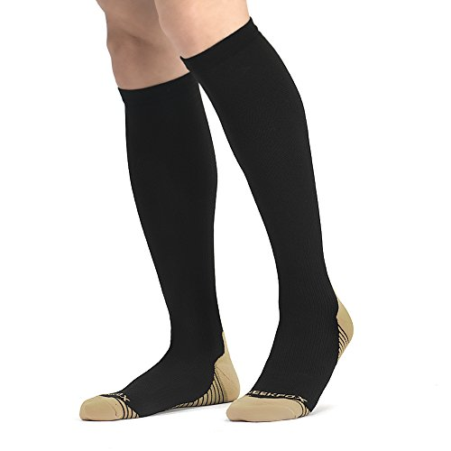 NEEKFOX Compression Socks for Men Women (15-20 mmhg) Graduated Compression Socks for Running Nurses Flight Travel Athletic