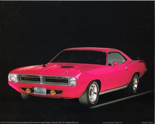 Classic Vintage Car Wall Decor 1970 Plymouth Cuda Art Print Poster (16x20) -