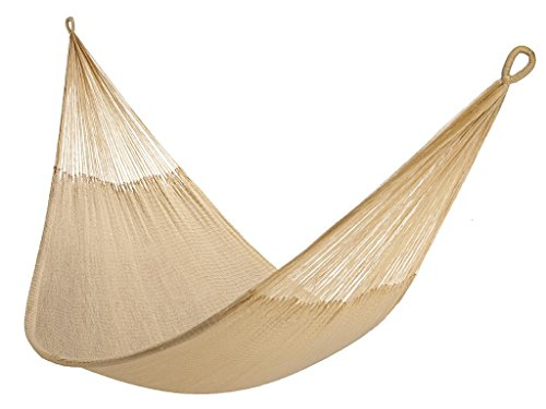 Yellow Leaf Hammocks TJ Hammock, Classic Double, Big Sur - 100% hand-woven with over 3.5 miles of yarn Maximum Capacity: 400 lbs Optimal Hanging Distance: 9-12 ft - patio-furniture, patio, hammocks - 41uWcq4iwQL -