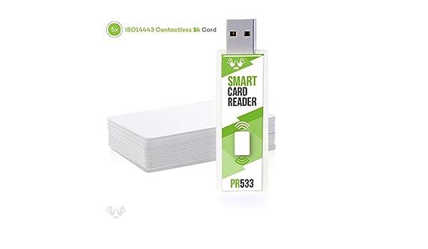 Amazon com: DL533R USB Stick - NFC RFID PC/SC Smart Card
