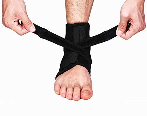 Breathable Adjustable Tendon Ankle Compression Brace Support Protector Stabilizers Wraps One (Shoe Size Table)