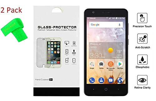for ZTE Avid 559 2Pack Tempered Glass Screen Protector Guard + Extreme Band (Tempered Glass)