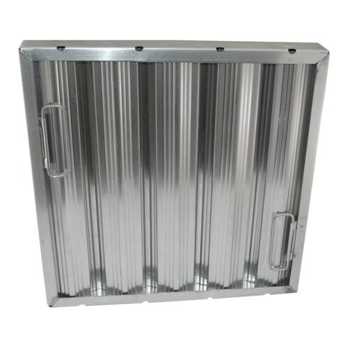Generic 261761 Baffle-Type Grease Filter W/Handles Aluminum 20'' X 20'' X 2'' Seamless