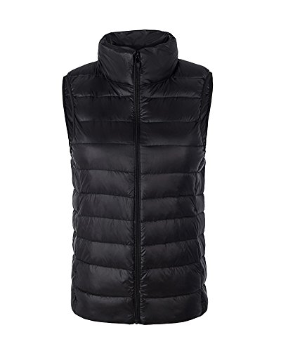 Jacket Body Gilet Coat Warmer Women Down Vest Ultralight Ladies Black Sleeveless ZhuiKun vxB8qw0Yxg