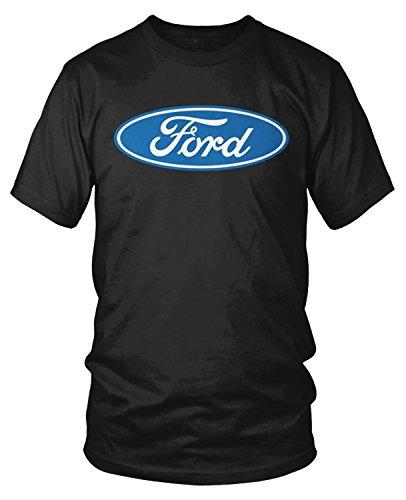 Amdesco Men's Ford Logo, Officially Licensed T-Shirt, Black (Ford Logo T-shirts)