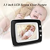 """Video Baby Monitor with Camera and Audio, 3.5"""" LCD and Infrared Night Vision, Two Way Talk Back, Temperature Detection, Lullabies, ECO Mode, 960ft Range Power Saving Baby Video Monitor"""