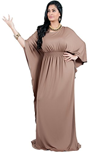 Maxi Cocktail Latte amp; Evening Plus Womens Long Sleeve Formal Vivian Size Adelyn Brown Dress v6w0x0