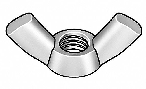 M8-1.25 Wing Nut Type A-Cold Forged, Zinc Plated Finish, Class 5 Steel, Right Hand, DIN 3155, PK20 - pack of 5