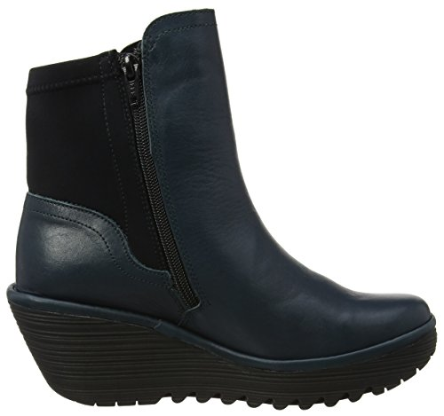 Fly London Yuan752fly Stivali Donna Blu reef Black