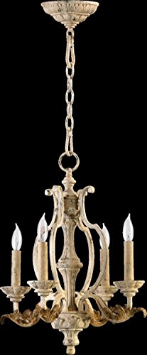 Quorum International 6037-4-70 Chandeliers with Shades, Persian White