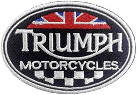 Triumph British Motorcycles Biker Embroidered Cloth Iron On Patches