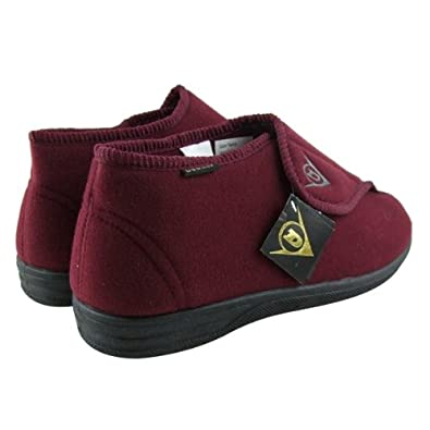 a880ea6ca170a5 Mens Dunlop Burgundy Ankle Boot Velcro Slipper Wide Fit Slippers Size UK 8   Amazon.co.uk  Shoes   Bags