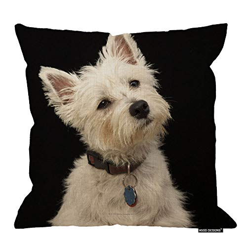 - HGOD DESIGNS West Highland Terrier with Collar Pillow Cover 18 X 18 Throw Pillow Case
