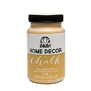 FolkArt Home Decor Chalk Furniture & Craft Paint in Assorted Colors (8 Ounce), 34155 Vintage Mustard