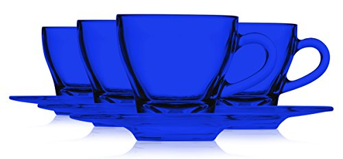 - Libbey Cobalt Blue Glass Espresso Cup 1.75 oz and Libbey 4-5/8