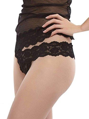- Jezebel Women's Posh Thong,Black,Large