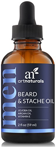 ArtNaturals Beard Oil and Conditioner - 2 Fl Oz - Pure and Natural Unscented - for Groomed Beard Growth, Mustache, Face and Skin (Face Natural Unscented)