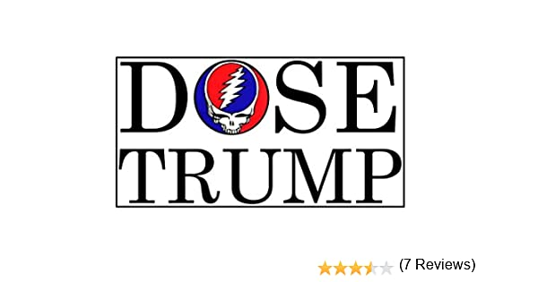 Dose Trump Grateful Dead Logo Car Vinyl Sticker Decal Bumper Sticker Auto Cars Trucks Windshield Custom Walls Windows Ipad MacBook Laptop More 4 inch D Sticky Company