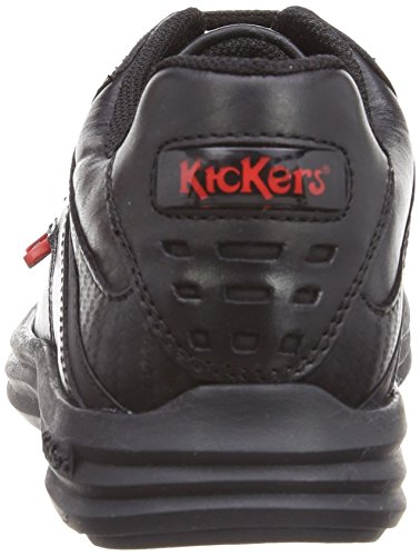Kickers Reasan Lace J Jungen Schuhe Schwarz (Black)