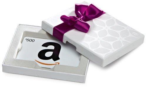 Amazon.ca $500 Gift Card in a White Gift Box (Classic White Card Design)