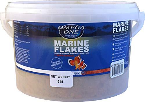 Omega One Garlic Marine Flakes Fish Food 12-oz.