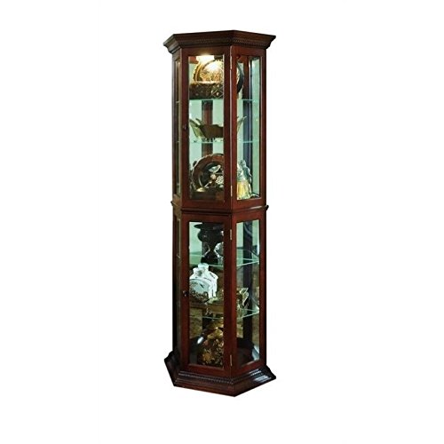 Beaumont Lane Mirrored Curio in Brown