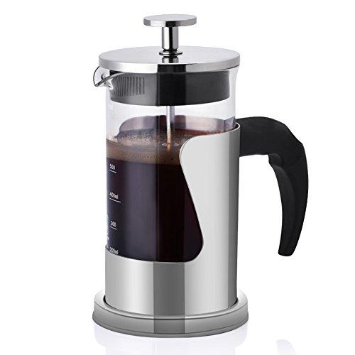 L-BEANS Cafeteras de Émbolo de Acero Inoxidable 3 vasos 12oz, 350ml
