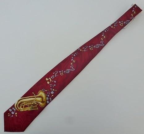 Corbata con Tuba/Bombardino en el diseño de la base de color ...