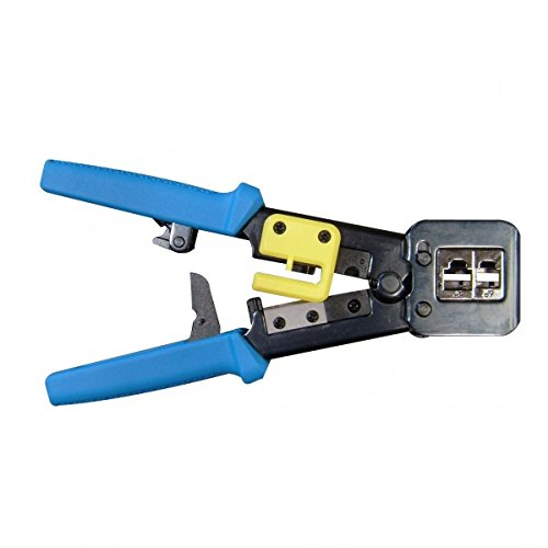 RJ45 Crimping Tool with Wire Cutter and Cable Stripping Blades RJ11/12 (Crimp Tool Use 45 Rj)