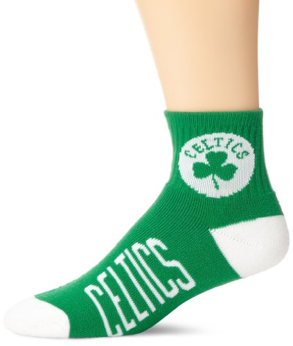 fan products of NBA Boston Celtics Men's Team Quarter Socks, Medium