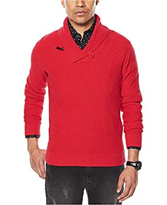 Sean John Mens Winter Knit Shawl-Collar Sweater at Amazon