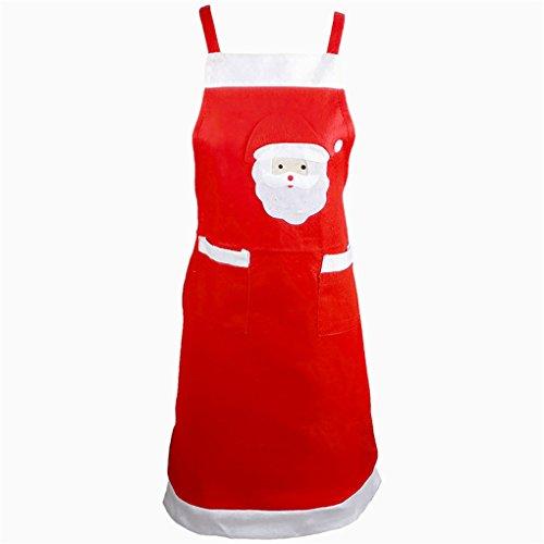 [Harmily Christmas Red Santa Claus Apron Home Kitchen Supplies Xmas Decor] (Shredder Costume Pattern)
