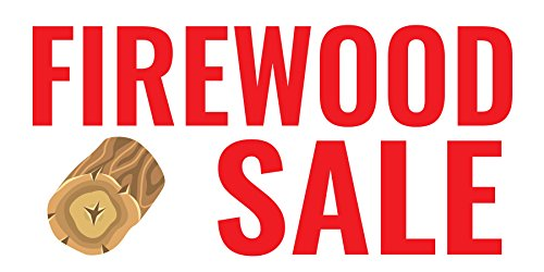 Pre-Printed Firewood Sale - Red (10' x 5')