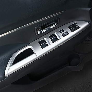High Flying Interieur Türverkleidungen Dekor Silber Matt 4 Stück Abs Kunststoff Für Asx 2013 2020 Auto