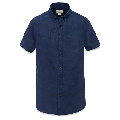 Timberland SS Rattle River Line Chemise de Lin Homme Bleu A1AMI B68