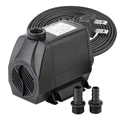 Minerva 1050GPH (4000 L/H, 100W) Submersible Water Pumps for Aquarium, Tabletop Fountains, Pond, Water Gardens and Hydroponic Systems with Two Nozzles, CE-ROHS Approved, 5.9ft Power Cord